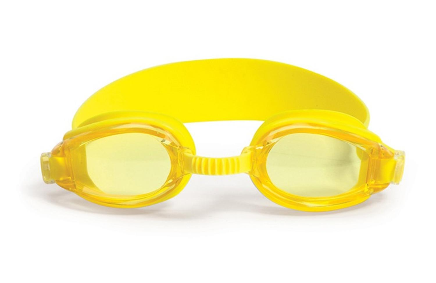 """6.25"""" Advantage Yellow Goggles Swimming Pool Accessory for Juniors by Swim Central"""