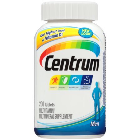 Centrum Men Multivitamin Multimineral Supplement Tablets 200 Count
