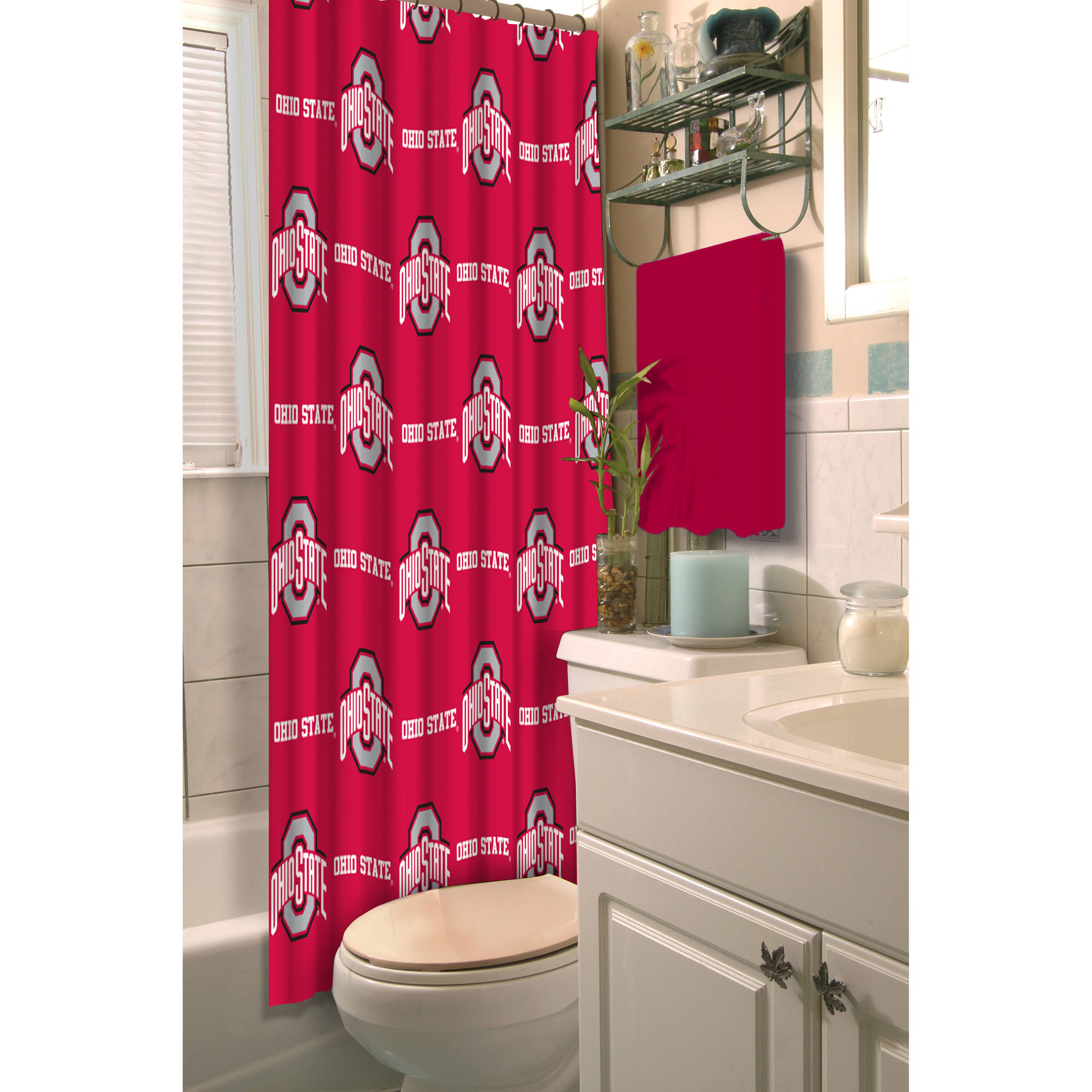 NCAA Ohio State University Decorative Bath Collection - Shower Curtain