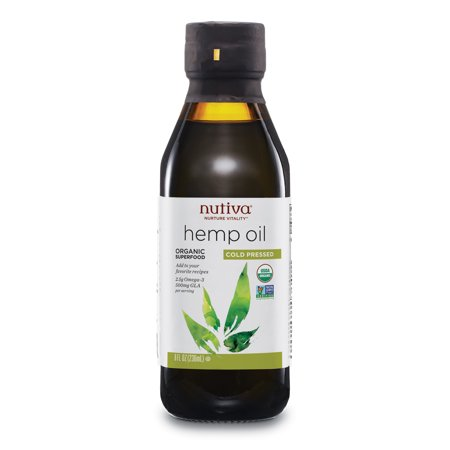 Nutiva Organic Cold-Pressed Unrefined Hemp Seed Oil,