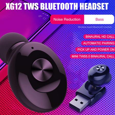 Wireless Bluetooth Stereo Headphone. Bluetooth V5.0 Earbud. Waterproof Sports Headset (Single+USB charging) - image 1 de 13