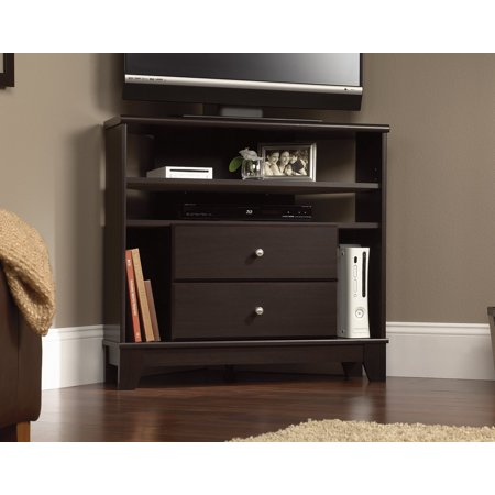 Sauder Furniture 414707 Camarin Collection Jamocha Wood Corner Console TV Stand