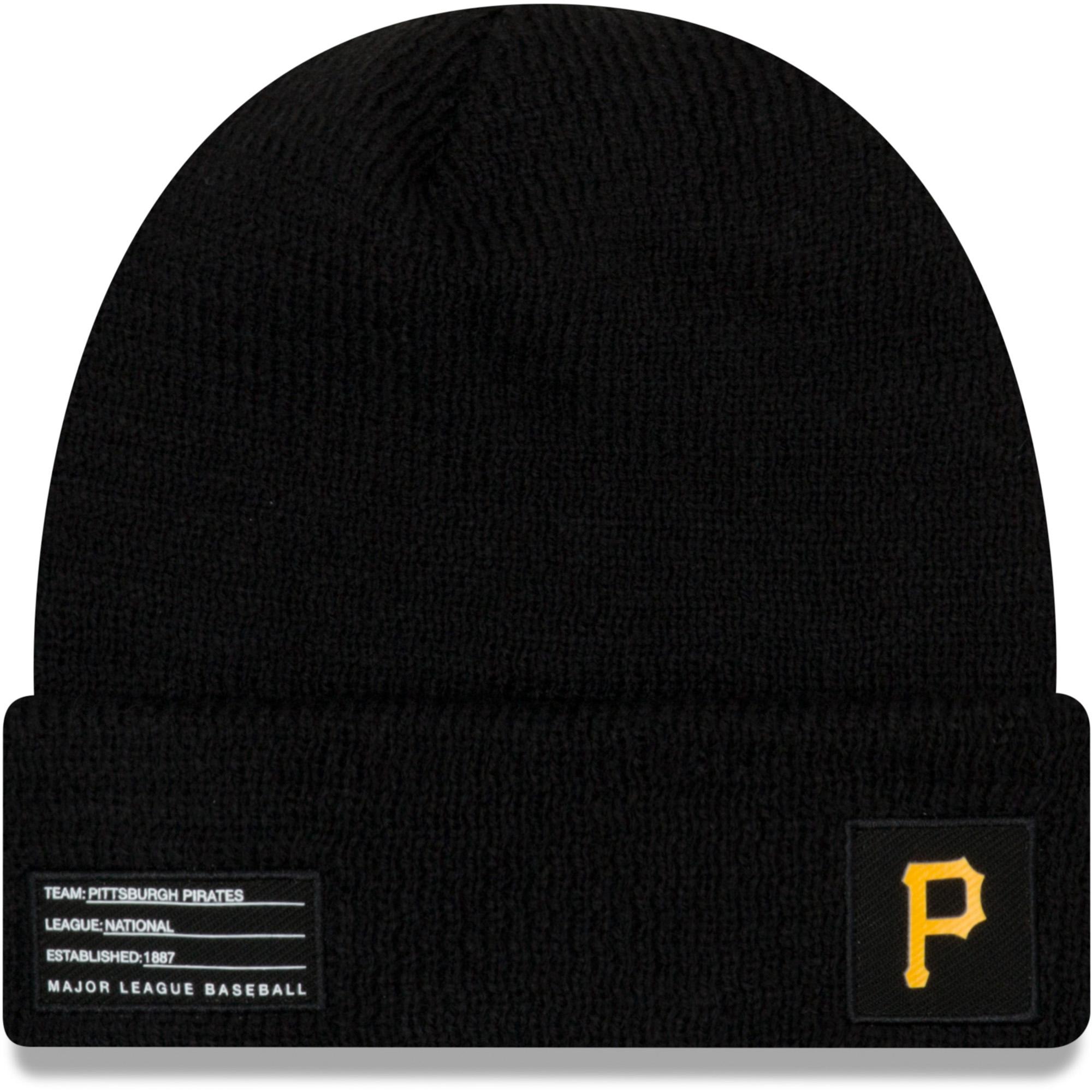 Pittsburgh Pirates New Era On-Field Sport Cuffed Knit Hat - Black - OSFA