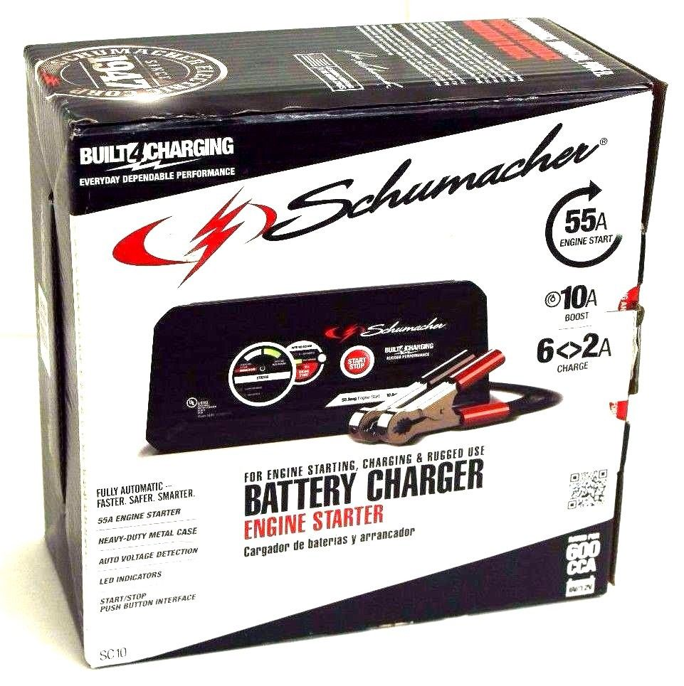 Schumacher Portable Automatic 55 Amp Battery Charger and Engine Starter, Multi