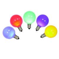 Vickerman G40 Multi-color Ceramic LED Replacement Bulbs 5 Pack