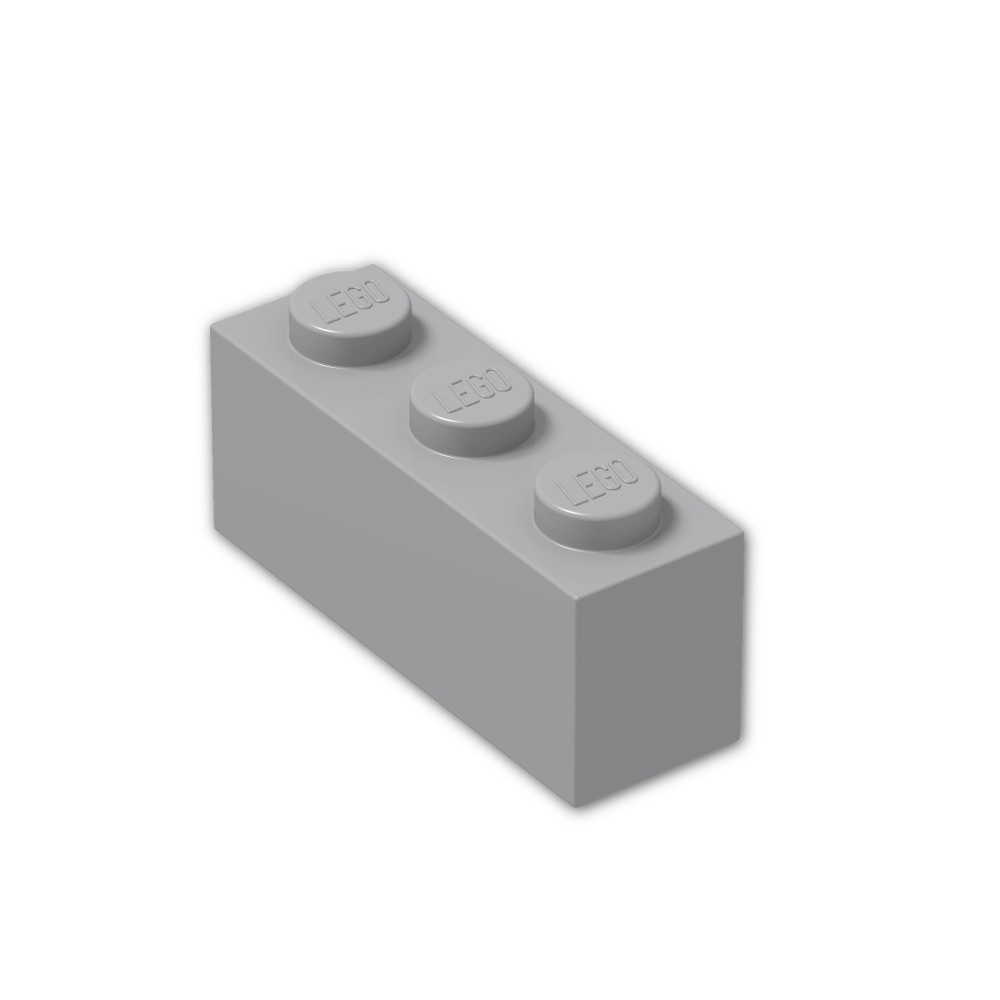 LEGO® Reddish Brown Brick 1 x 3 Part 3622 MOC
