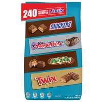 SNICKERS, TWIX, MILKY WAY & More Minis Size Easter Candy Bars Variety Mix, 67.2-Ounce 240-Piece Bag