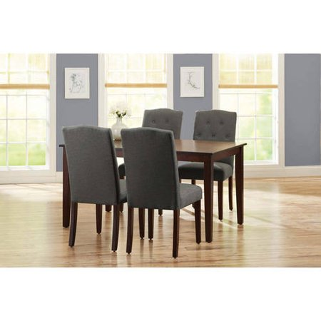 Better Homes and Gardens 5-Piece Dining Set with Upholstered Chairs, Grey