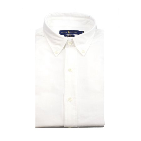 Ralph Lauren NEW White Slim Fit Mens Size Large L Oxford Button Down