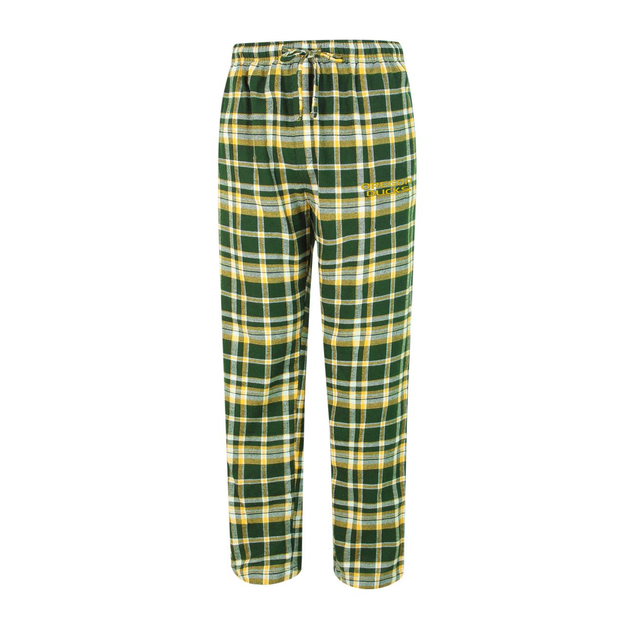 Oregon Ducks Adult Bleacher Flannel Pants - Gold