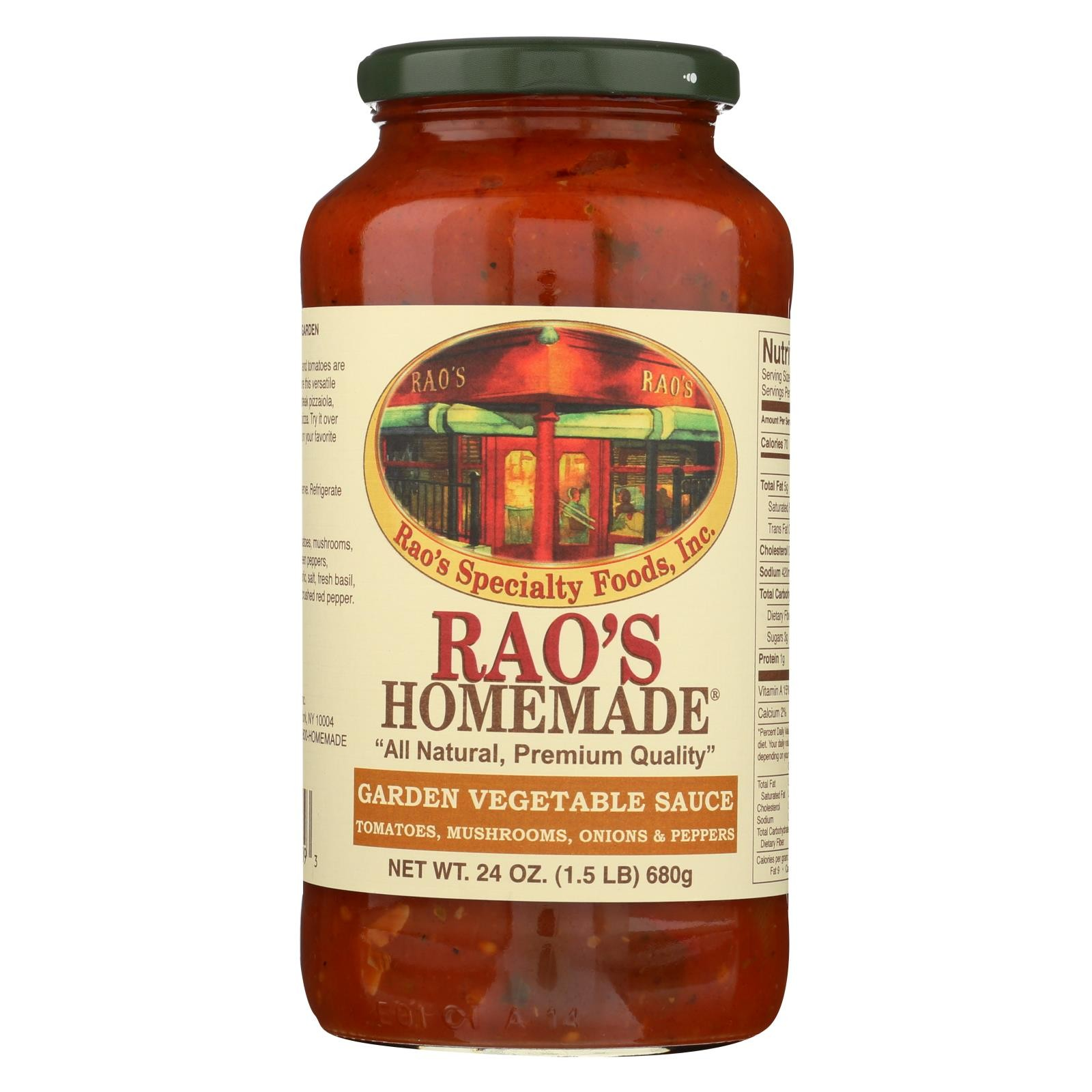 Rao's Specialty Food Homemade Sauce - Peppers And Mushroom - Pack of 12 - 24 Oz.
