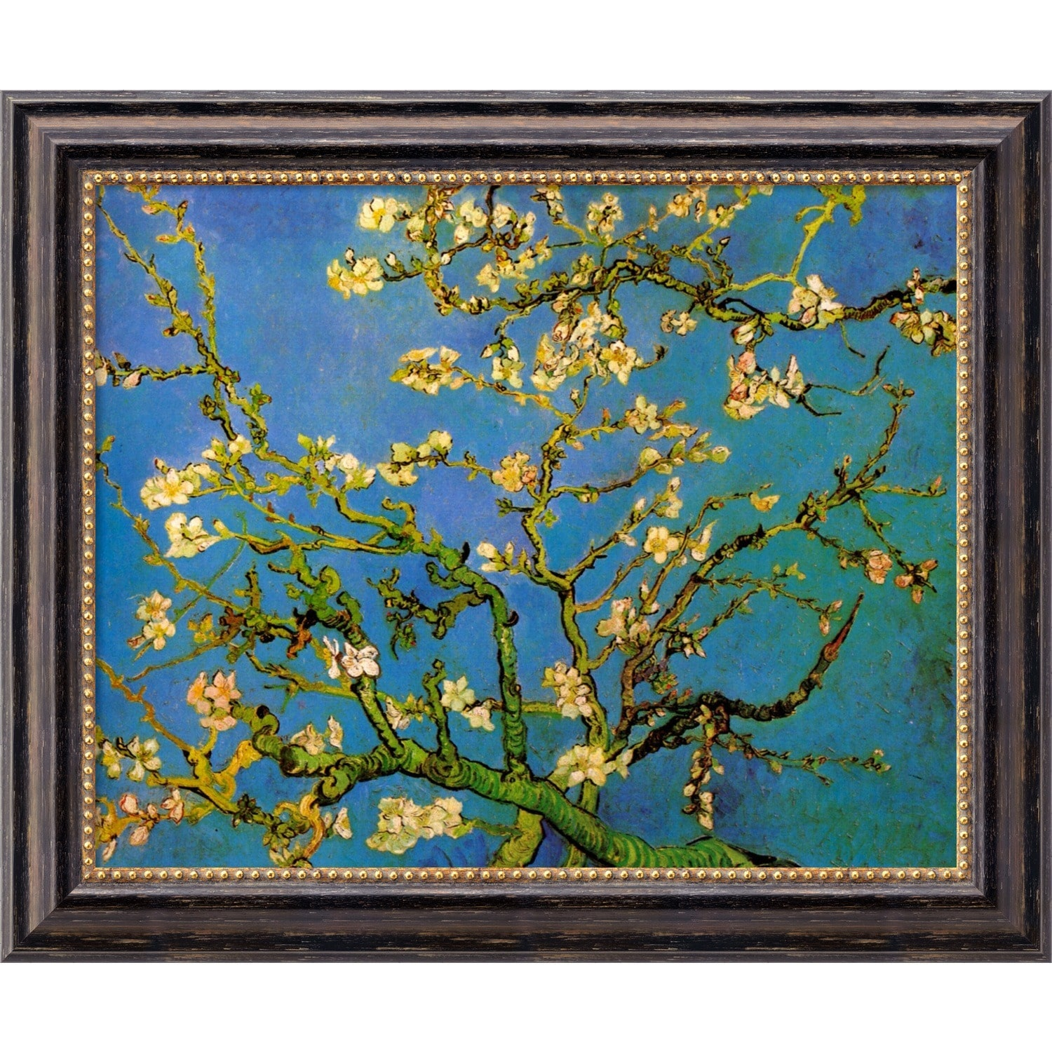 Amanti Art Vincent van Gogh 'Almond Branches in Bloom, San Remy 1890, detail (iii)' Framed... by Overstock