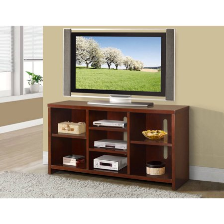 Chicago Wood Veneer TV Stand for TVs up to 70″, Espresso