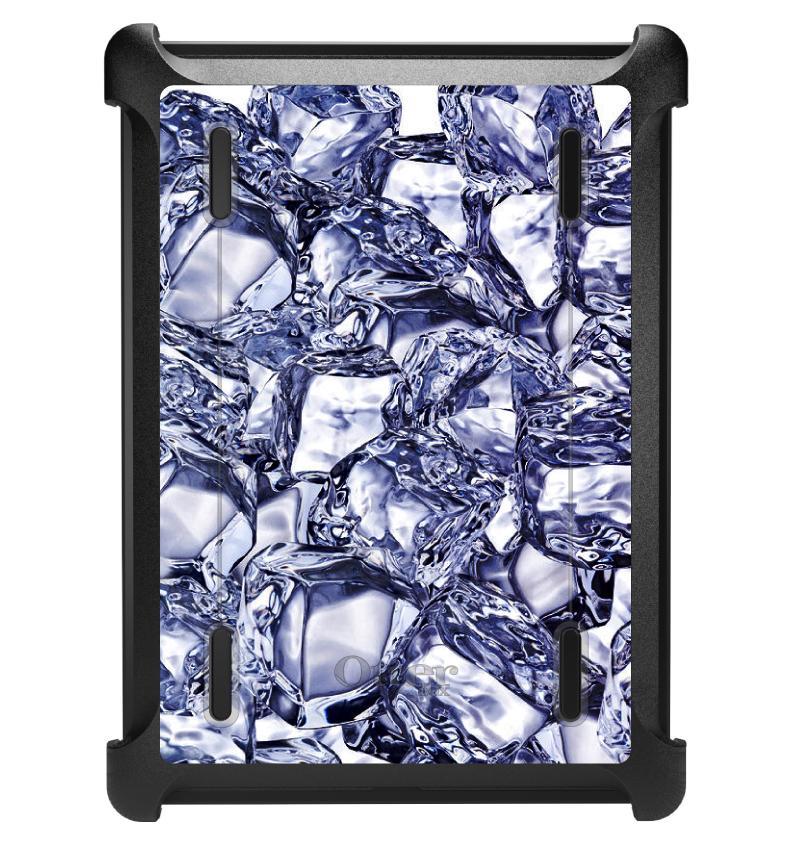 CUSTOM Black OtterBox Defender Series Case for Apple iPad Air 1 (2013 Model) - Crystal Clear Ice