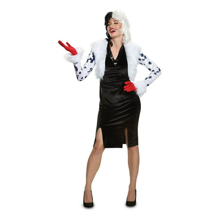 Disney Villains Cruella De Vil Deluxe Adult Halloween Costume - Disney Costumes For Women