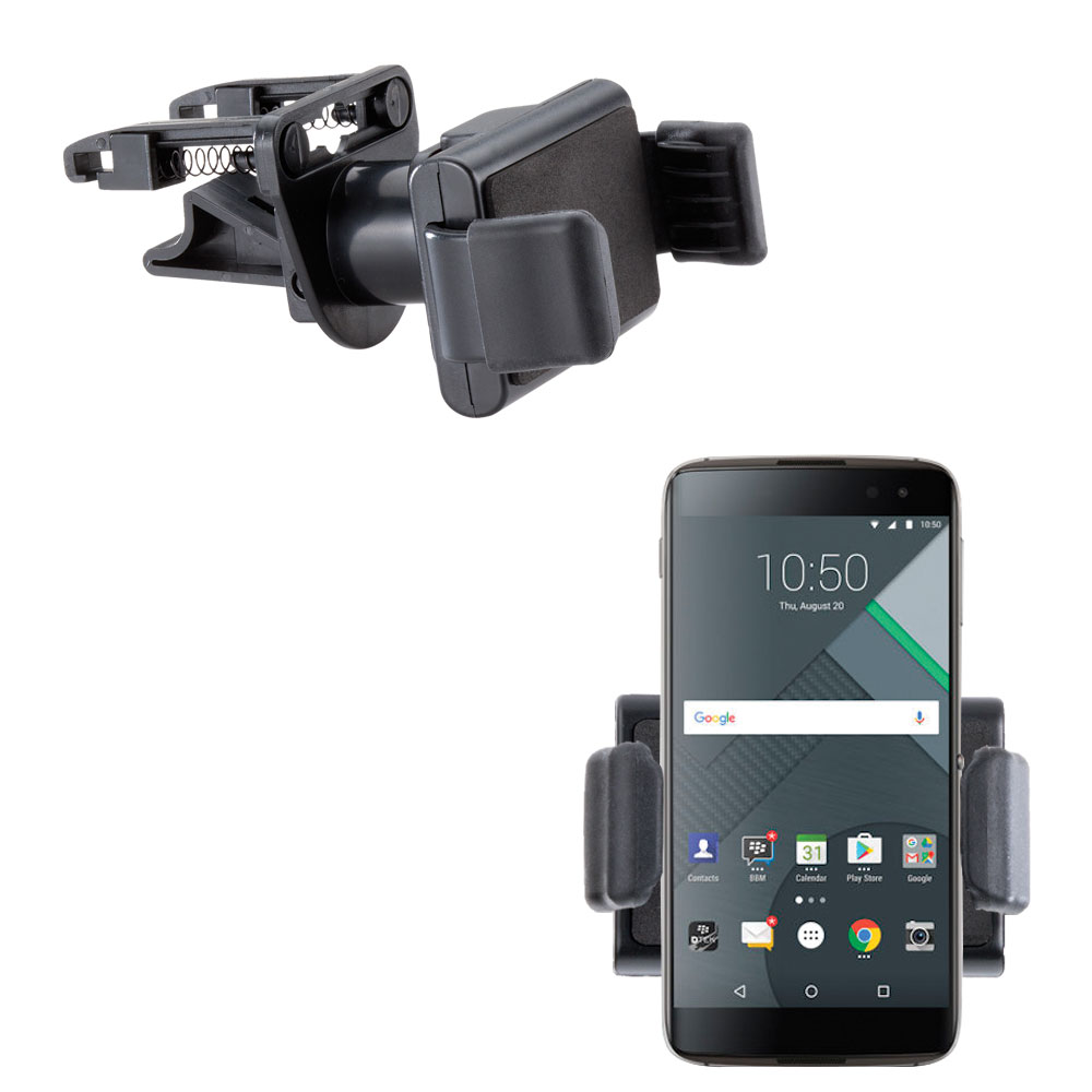 Gomadic Ultra Compact Air Vent Clip Based Cradle Holder Car / Auto Mount suitable for the Blackberry DTEK60