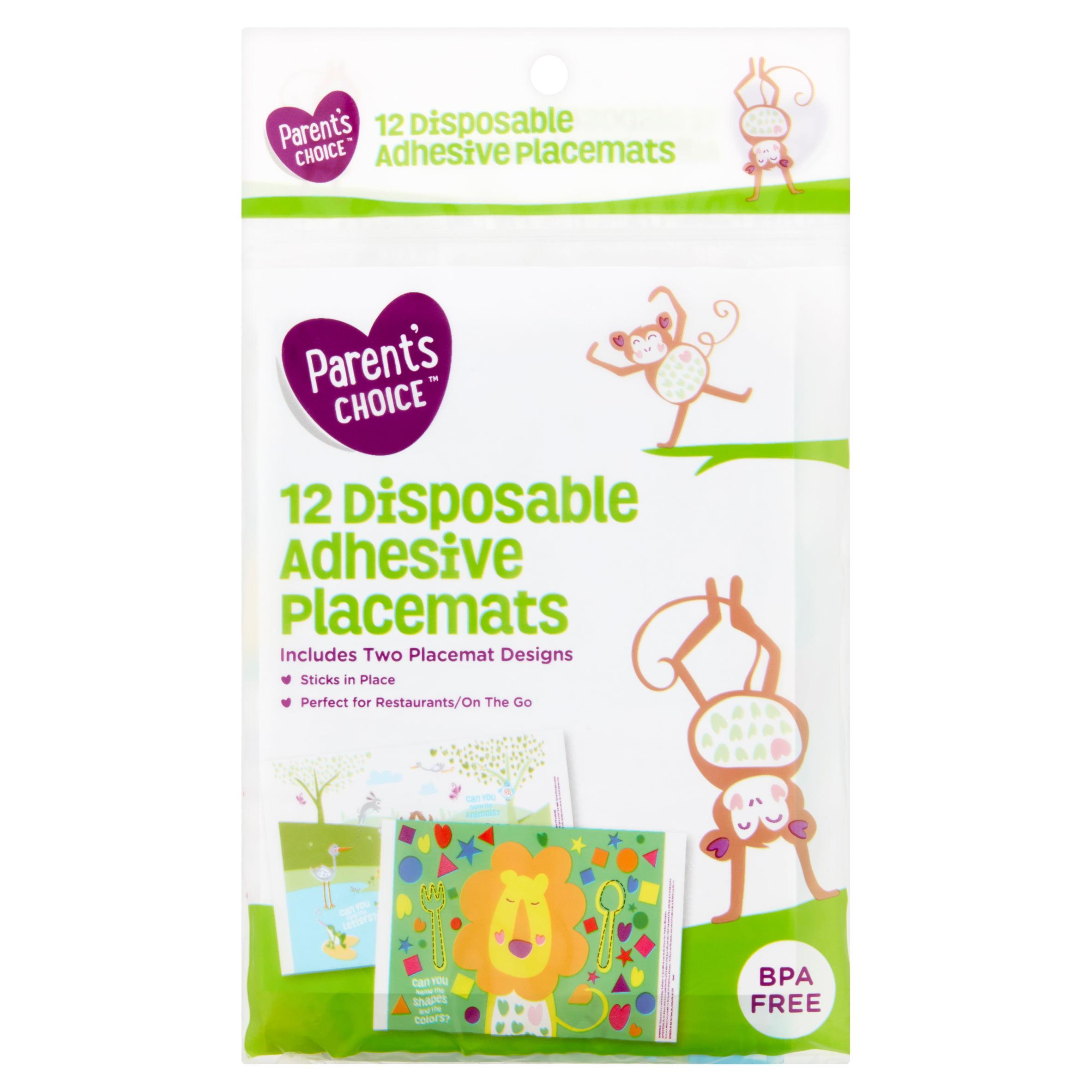 Parent's Choice Disposable Adhesive Placemats, 12 count