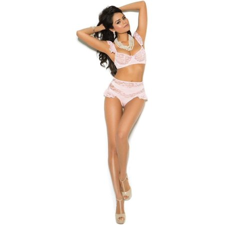 Elegant Moments EM-5493 Lace bralette with underwire cups M / Baby Pink