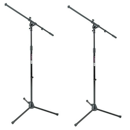 On-Stage MS7701B Mic Stands Tripod Euro Boom Microphone Stand 2 PACK