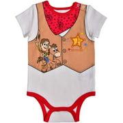 Disney Baby Boy's Toy Story Woody Short Sleeve 1st Birthday Bodysuit Onesie