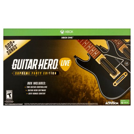 Guitar Hero Supreme Party Edition Bundle With 2 Guitar Controllers  Xbox One