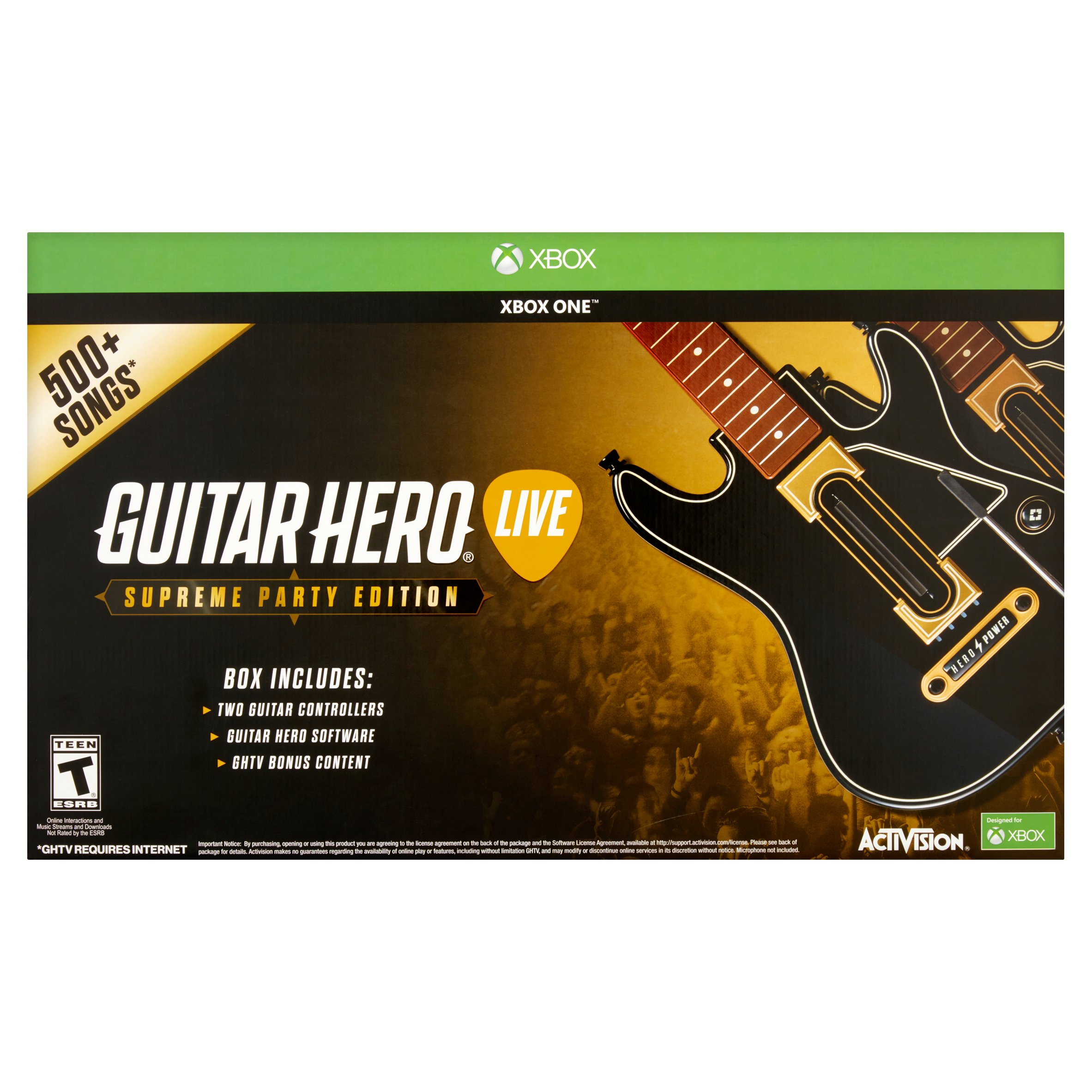 Guitar Hero Supreme Party Edition Bundle with 2 Guitar Controllers (Xbox One)