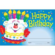 Trend Happy Birthday Recognition Awards, Multicolor, 1 Pack (Quantity)