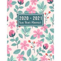 """2 Year Monthly Planner 2020-2021: 2020-2021 Two Year Planner: 2020-2021 two year planner flower watecolor cover - 24-Month Planner & Calendar. Size: 8.5"""" x 11"""" ( Jan 2020 - Dec 2021). Two Year Persona"""