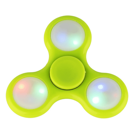 lux accessories green led light trendy kids toy fidget spinner hand spinner. Black Bedroom Furniture Sets. Home Design Ideas