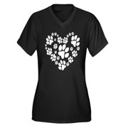 Women's Plus-Size Paws Heart Graphic T-shirt