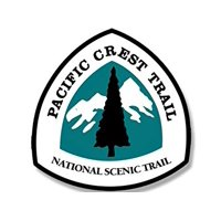 Sign Shaped Pacific Crest Trail National Scenic Trail Sticker Decal (hike historic hiking pct) 4 x 4 inch