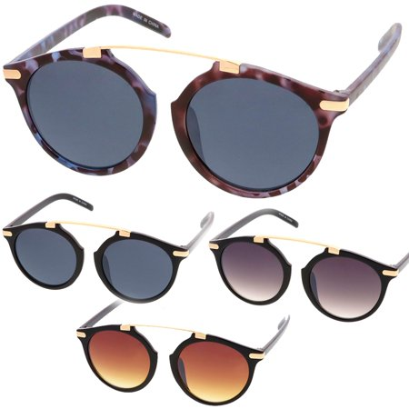 Lady Fashion Eyewear - MLC Eyewear Retro Fashion Dapper Frame Brow Bar Women Sunglasses Model 71