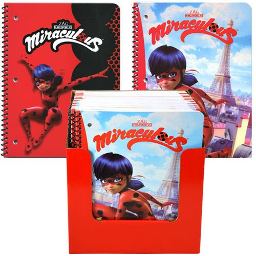Miraculous Ladybug 50 Sheet Single Subject Theme Book in PDQ 2 Asstd.