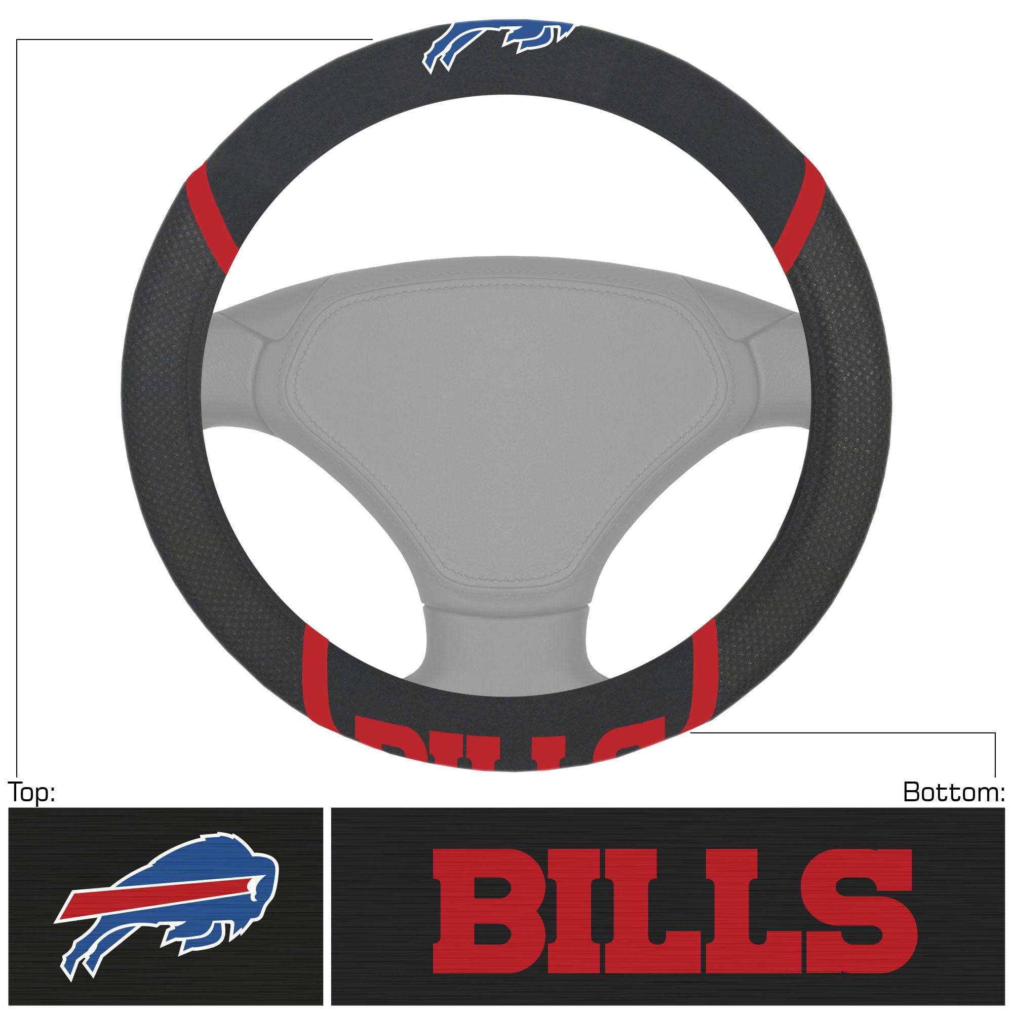 Buffalo Bills Logo & Wordmark Steering Wheel Cover - No Size