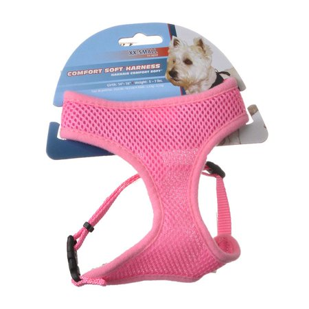Coastal Pet Comfort Soft Adjustable Harness - Pink XX-Small - Dogs 5-7 lbs -(Girth Size 14-16)