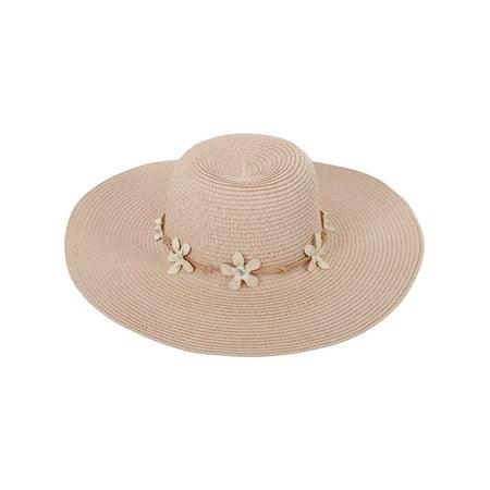 f7b0e279a8949 AshopZ - Women s Wide Brim Straw Sun Hat with Chin Strap - Walmart.com