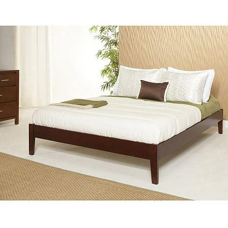 newport king simple platform bed cordovan