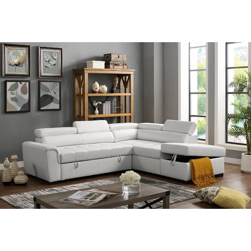 Latitude Run Menomonie Sleeper Sectional with Ottoman