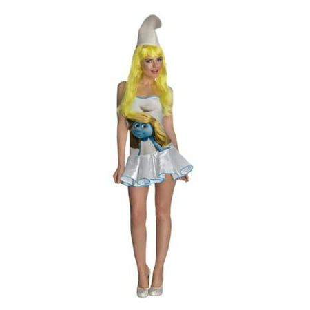 Smurfette Sexy Dress Women's Costume](Toddler Smurfette Costume)