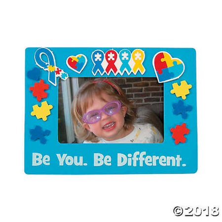 Autism Awareness Picture Frame Magnet Craft KIt ()