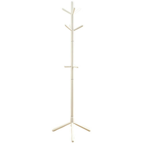 Monarch Specialties I 2013 Coat Rack-73 H//Antique White Wood Traditional Style