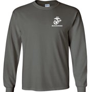 USMC Crest Marines Long Sleeve T-Shirt