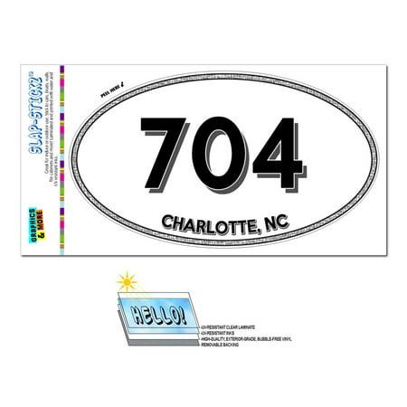 704 - Charlotte, NC - North Carolina - Oval Area Code