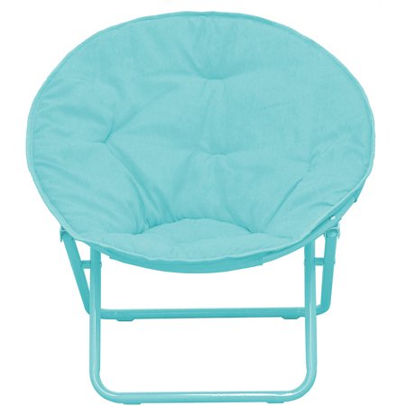 Blue Preschool Chair (American Kids Solid Faux-Fur Saucer Chair, Multiple Colors )