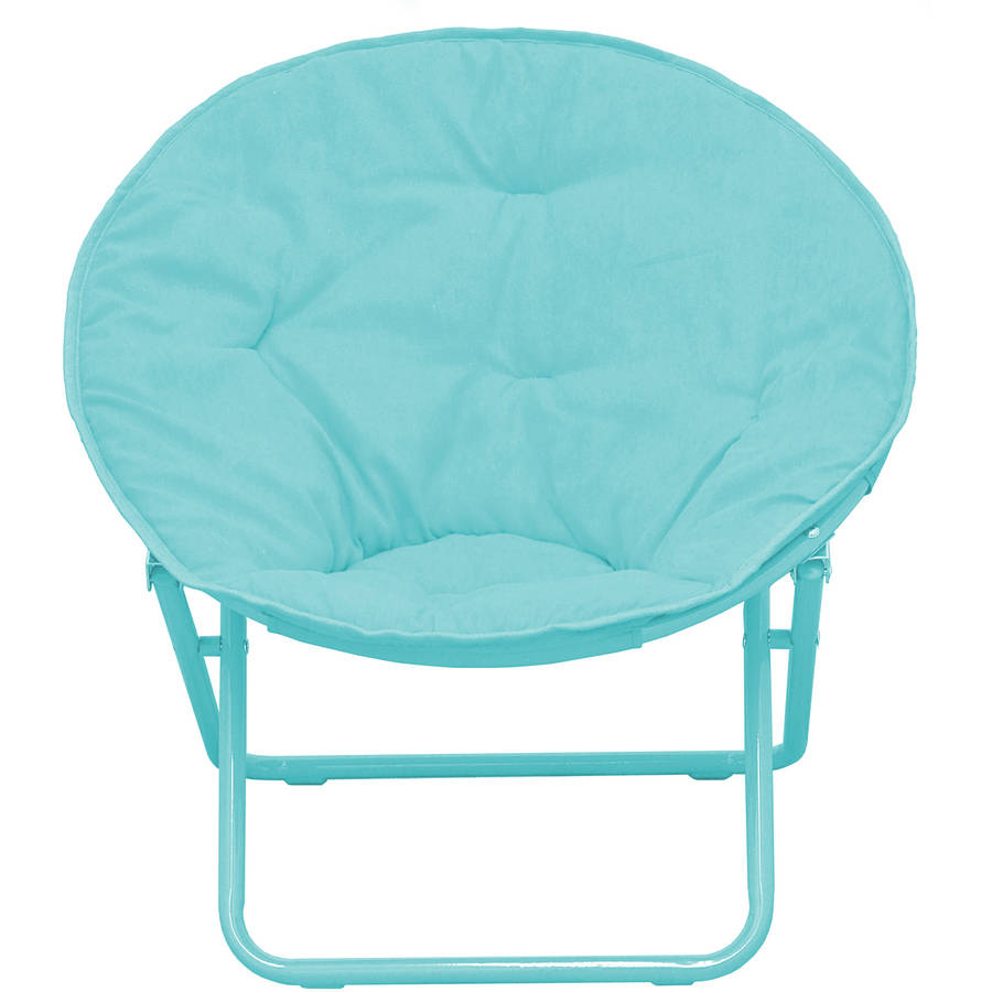 Delightful American Kids Solid Faux Fur Saucer Chair, Multiple Colors