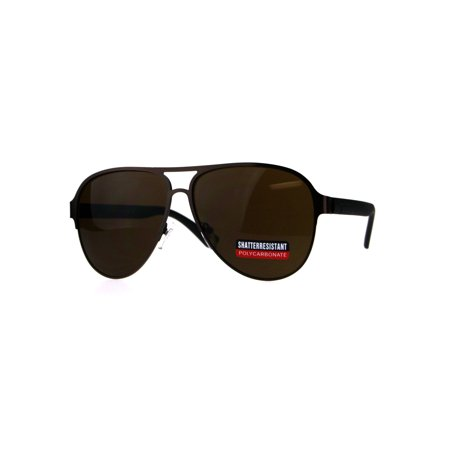 Mens Classic Racer (Mens Racer Pilots Metal Rim Sport Mob Classic Sunglasses Copper Brown)