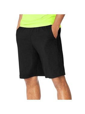 Extra Large Mens Performance Pocket Shorts, Ebony