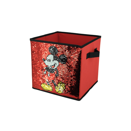 Disney Mickey Mouse Reversible Sequin Storage Cube
