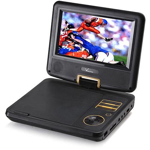 "Verezano PDVD-190B 7.0"" Swivel Screen Portable DVD Player, Black"