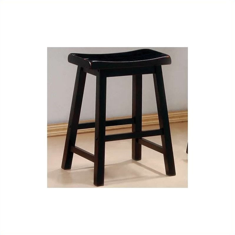 Coaster 24 Quot Wooden Counter Stool In Black Walmart Com